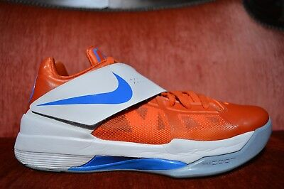 detailed look f8adc 67487 Nike Zoom KEVIN DURANT KD IV 4 CREAMSICLE ORANGE WHITE 473679 800 Size 10  EYBL
