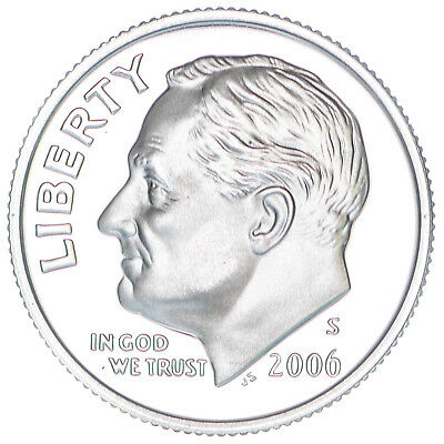 2006 S Roosevelt Dime Gem Deep Cameo 90% Silver Proof US Coin