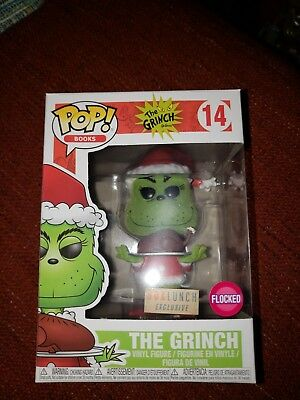 Funko Pop! #14 Flocked Grinch with Roast Beast - BoxLunch Exclusive Box Lunch