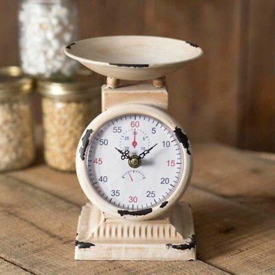 Kitchen Scale Clock Farmhouse Home Decor Coastal Rustic Primitive French Country