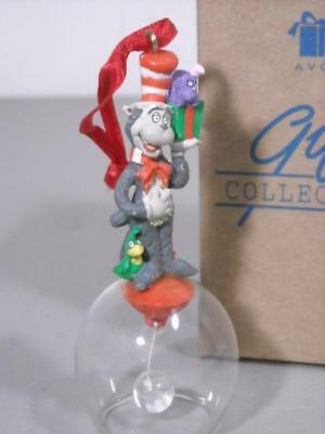 1998 New Avon Dr. Seuss Cat In The Hat Bell Christmas Ornament W/ Box