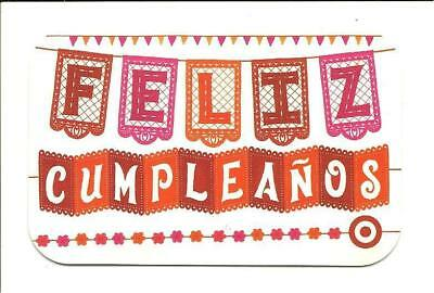 Target Feliz Cumpleanos Spanish Lang Gift Card No $ Value Collectible Event 2066