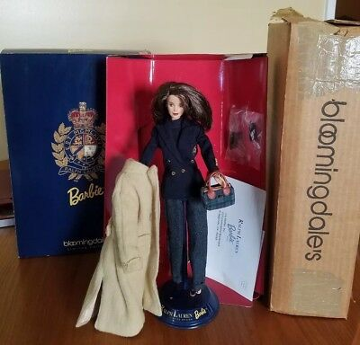 45c0e62109 RALPH LAUREN 1996 Barbie Doll Bloomingdales Limited Edition Shipping ...