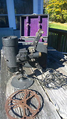 VINTAGE BELL AND HOWELL 8MM PROJECTOR MOVIE CINE PROJECTOR antique with case and