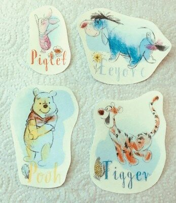 Set of cute Winnie the Pooh and Friends iron on motifs/patches embellishments