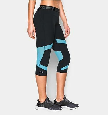 2a60b31d8a UNDER ARMOUR Women's HeatGear CoolSwitch Capri Tights NEW NWT SMALL 1271535