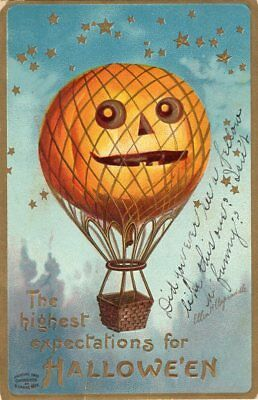 HALLOWEEN POSTCARD, ELLEN CLAPSADDLE, PUBLISHED BY GARRE, S. OCTOBER 26th, 1910