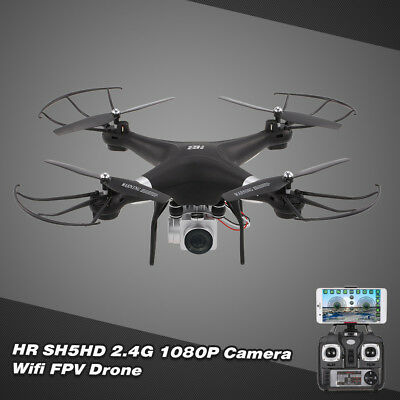 HR SH5HD 2.4G 4CH 1080P Camera Wifi FPV Drone Height Hold RC Quadcopter Toy P2N6