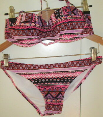 Vintage Jayjays Size XS Swimwear Bikini Two Piece Bathers Removable Straps