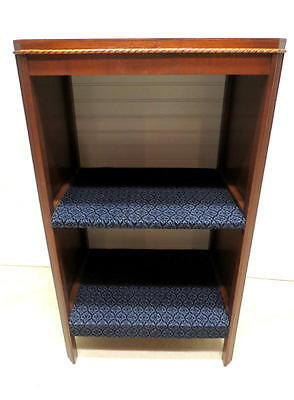 Antique Mahogany 2 Shelf Bookcase Book Case Cabinet Carved Rope Trim Bead Board