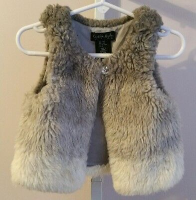 Toddler Girls Cynthia Rowley Tri-Color Faux Fur Vest 24 Months