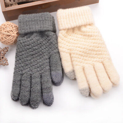 2018 new Women Cashmere Touch Screen Full Finger Gloves Warm Windproof Mittens