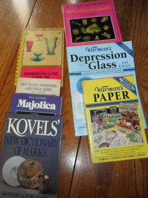 Seven Price Guides - Depression Avon Majolica Paper Comis Cut Glass