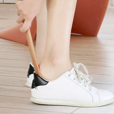 Portable Wood Long Handle Shoehorn Shoe Horn for Senior Pregnancy Women Men