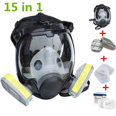 15 in 1 Facepiece Respirator Painting Spraying For 3M 6800 Full Face Gas Mask