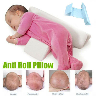 Infant Newborn Baby Sleeping Wedge Prevent Flat Head Support Anti Roll Pillow