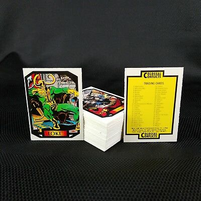 1987 Comic Images Complete 90 Card Set COLOSSAL CONFLICTS MARVEL CARDS Series 2