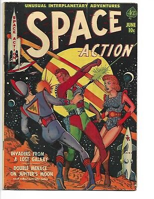 """Space Action 1 """"Invaders From A Lost Galaxy"""" VG/FN"""