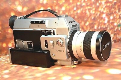 【EXCELLENT】CANON 814 AUTO ZOOM Super 8 MOVIE CAMERA FILM TESTED CASE & REMOTE