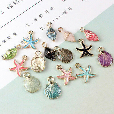 Colorful Starfish Shell Conch Pendants Beads Craft DIY Jewelry Making Acc Supply
