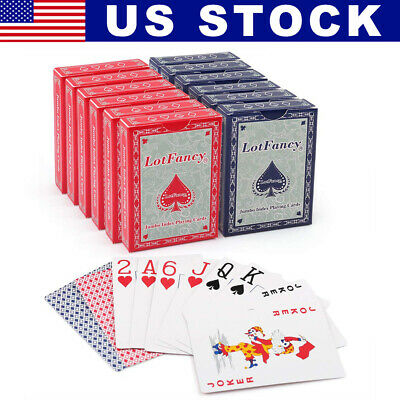 2 Deck of Playing Cards Poker Size Card Magic Table Board Games 1 RED/ 1BLUE