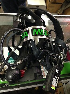 MSA Air Mask SCBA Tank Harness With Icm Tx And Other Accessories