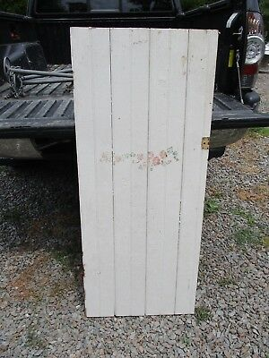 "Vintage Cupboard Door, Natural Distressed Paint, Vintage Stencil 47 1/2"" x 20"""