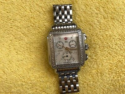 932f137c8 Michele Deco Day Mother of Pearl Dial Diamond Ladies Watch 120 diamonds