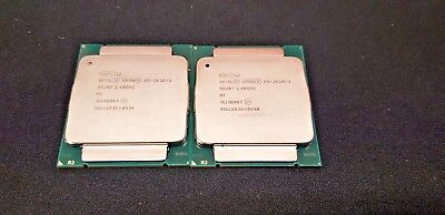 Intel Xeon E5-2620V3 Paired Chips @ 2.4Ghz 6 Cores 12 Threads Each FCLGA2011-3