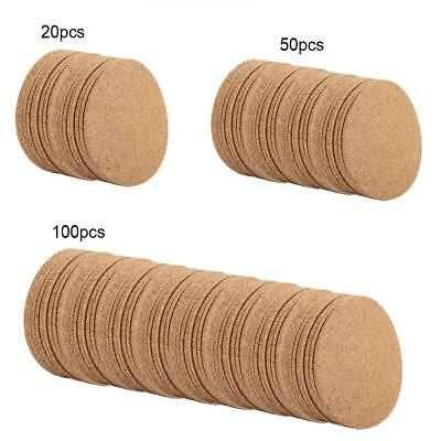 20/50/100× Drink Coaster Tea Coffee Cup Mat Pads Cork Wood Table Decor Tableware