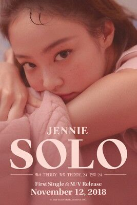 BLACKPINK JENNIE [SOLO] PHOTOBOOK CD+POSTER+Photo Book+Post Card+Card SEALED