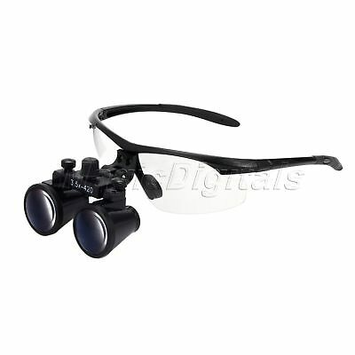 Black 3.5X Dental Surgical Binocular Loupes Optical Glass Loupe Dentist 420mm