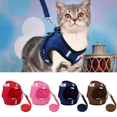 Escape Proof Cat Harness Leash Kitty Walking Jacket Harness Adjustable Dog Vest