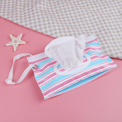 Outdoor travel baby newborn kids wet wipes bag towel box clean carrying case UQ
