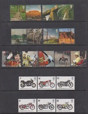 GB 2005 Complete Year Set Of commemorative Stamps- all in perfect MNH condition.