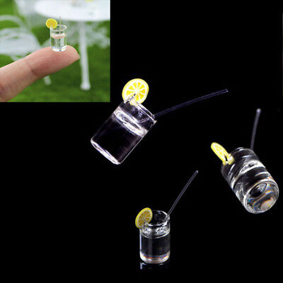2pcs mini dollhouse lemon water cup dollhouse accessories toy kids toys gift NTH