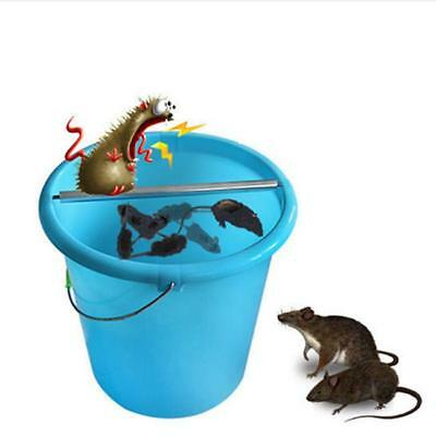 1PC Stainless Steel Rolling Mouse Mice Rat Stick Trap Log Bucket Rodent Spin T3