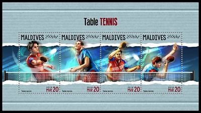 MALDIVES 2018 MNH ** Table Tennis Tischtennis M/S #309a B