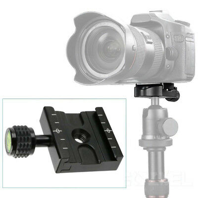 Aluminum Metal Plate Clamp 50mm Quick Release for Arca-Swiss Tripod BallHead Bla