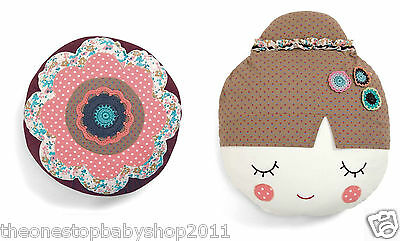 Mamas & Papas GIRLS NURSERY / BEDROOM PLAYROOM FLOWER / GIRL CUSHION £22.50 NEW