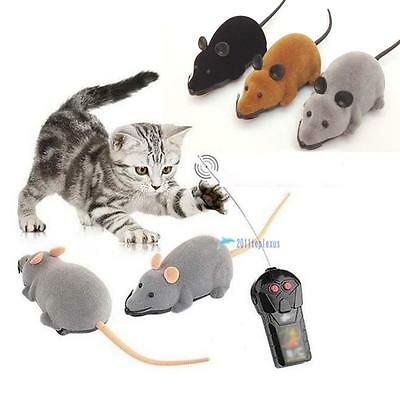 Hot Novelty Funny RC Wireless Remote Control Rat Mouse Toy For Cats Dogs Pet MT