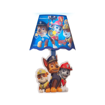 Nickelodeon Paw Patrol Led Wall Lamp Light Ready For Action Nightlight Stick On
