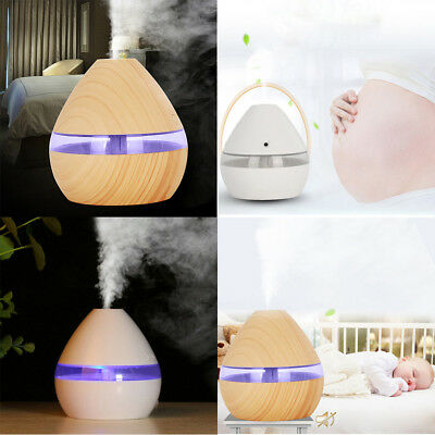 300ML LED Ultrasonic Aroma Humidifier Air Aromatherapy Essential Oil Diffuser ZL
