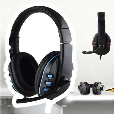 Gaming Headset With Mic Stereo Surround Headphone 3.5mm Wired For PS4 Xbox PC Ga
