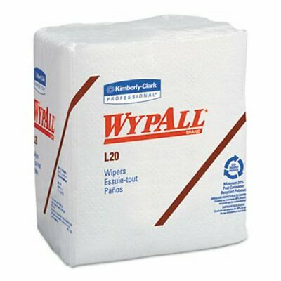 Wypall L20 Wipers, Quarterfold, 4-Ply, White, 12 Packs (KCC47022)