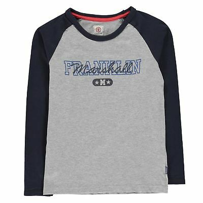 Franklin and Marshall Varsity Full Length Sleeve T Shirt Childrens Tee Top Crew