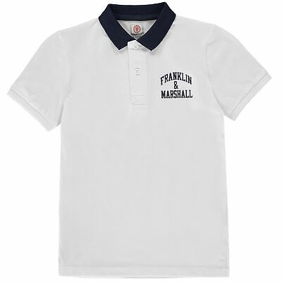 Franklin and Marshall Core Polo Childrens Shirt Classic Fit Tee Top Short Sleeve