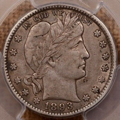 1893-O Better Date Barber quarter, PCGS XF45, nice & crusty   DavidKahnRareCoins