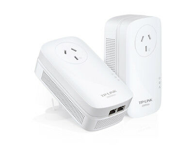 TP-Link 2000Mbps KIT Network Adapters 2 Port Home Plug Power Socket Plug Play