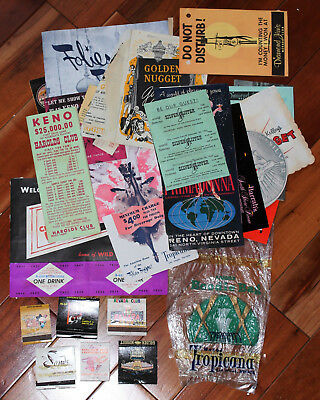 Lot of early Las Vegas casino match books, brochures, etc.